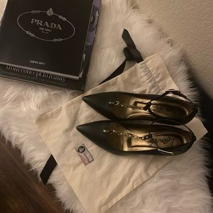 Lanvin Black Pointed leather High Heel